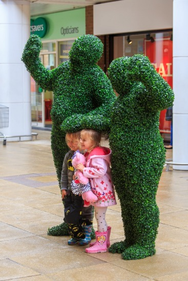 Hedge Hugging - Only at Beaumont Shopping Centre!